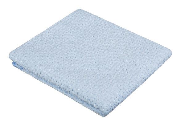 Памучна бебешка пелена 80/90 синя Akuku